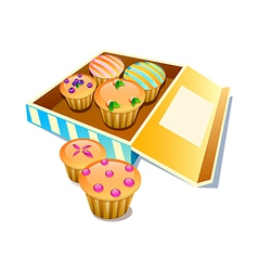 Icon muffin vector