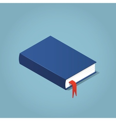 Isometric book with a bookmark vector