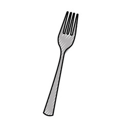 kitchen fork isolated icon vector image vector image