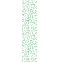 Leaves and swirls textile vertical seamless vector image