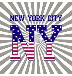 new york sport t-shirt vector image vector image