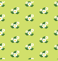 seamless pattern with flowers pretty floral vector image vector image