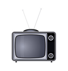 Tv set retro old vintage device vector