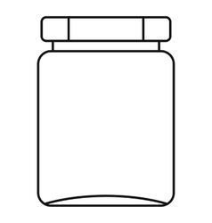 Jar icon outline style vector image