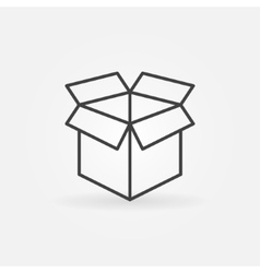 Open box line icon vector