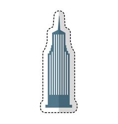 Cloudscraper new york isolated icon vector