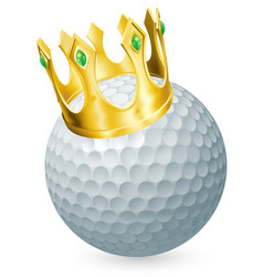 king of golf vector image