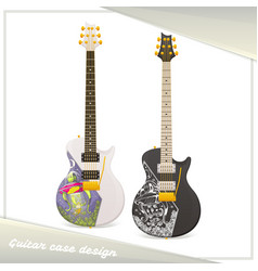 alien guitar case vector image