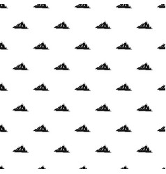 canadian mountains pattern vector image