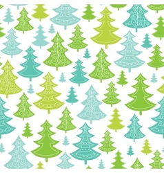 Holiday christmas trees seamless pattern vector