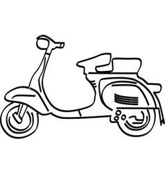 Simple motorbike design vector