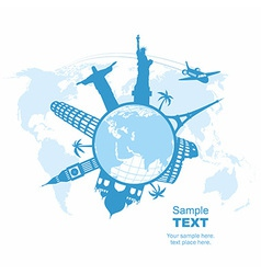Travel and tourism background vector