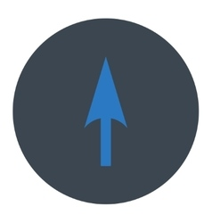 Arrow axis y flat smooth blue colors round button vector