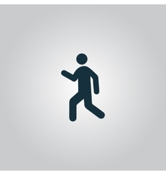Man walk icon vector image