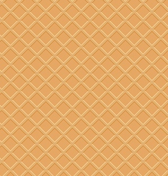 Seamless waffle texture vector