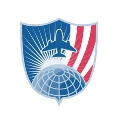 Air plane shield symbol vector image