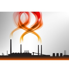 factory white curve red vector image
