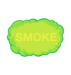Smoke cloud icon in cartoon style vector