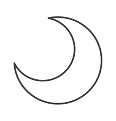 Moon isolated icon design vector