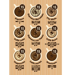 Different coffee vector