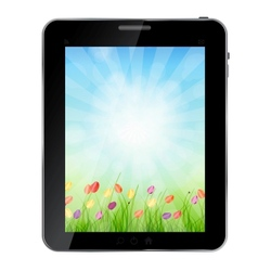A ecologic abstract Tablet PC vector image