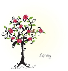 Beautiful bare tree vector image vector image