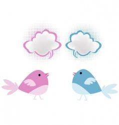 Bird chatter vector