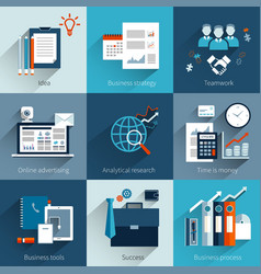 Business concepts set vector image vector image
