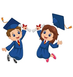 Cartoon graduation celebration vector