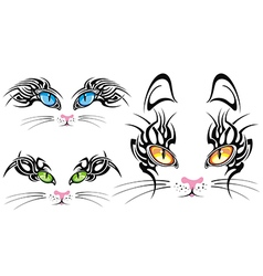 Cats eyes collection vector image