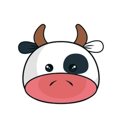 Cute cow stuffed icon vector