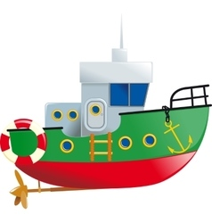 Cute small boat vector image vector image