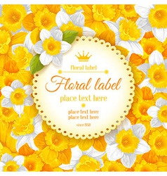 Daffodils background vector
