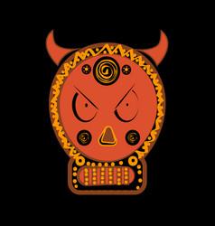 Demonic infernal creature horned wicked baphomet vector