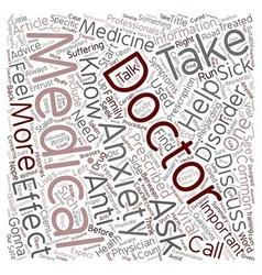 Doctors doctor i am sick text background wordcloud vector