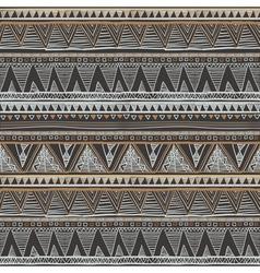Ethnic seamless pattern Tribal art boho print vector image