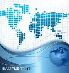 global business concept vector image vector image