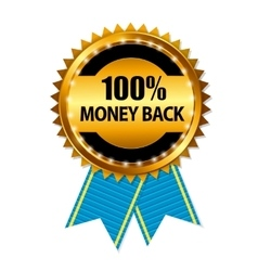 Gold Label 100 Money back vector image vector image