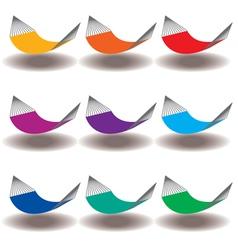 Hammocks rainbow vector