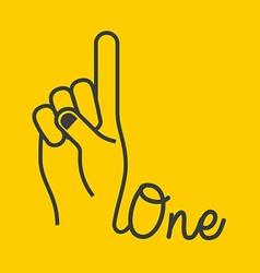 Hand gestures design vector