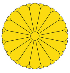 imperial seal of japan vector image vector image