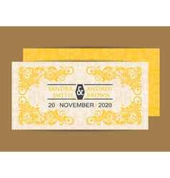 Invitation save the date vector