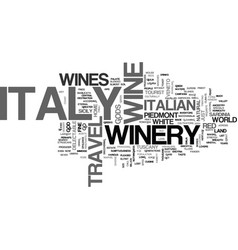 Italy travel winery text background word cloud vector