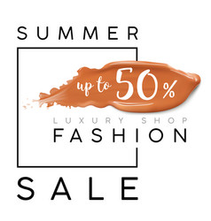 Luxury summer fashion sale banner for sales vector