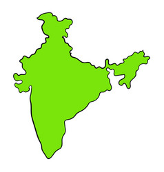 Map of india icon cartoon vector