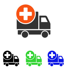 medical delivery flat icon vector image vector image