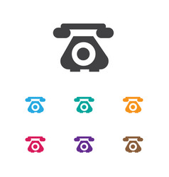 of phone symbol on antique vector image
