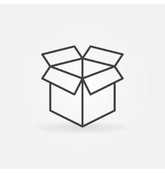Open box line icon vector