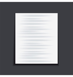 Paper sheet on the dark background vector image vector image