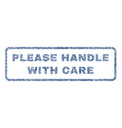 Please handle with care textile stamp vector